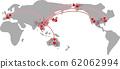 冠狀病毒插圖遍布世界各地 62062994