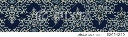 抽像華麗的宮廷巴洛克復古抽象花 62064240