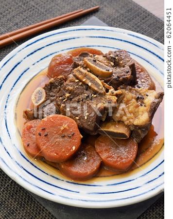 한국의 전통음식 소고기 갈비찜 62064451