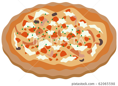 Pizza background white 62065598