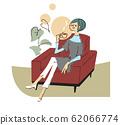 放松在沙发上的女人 62066774