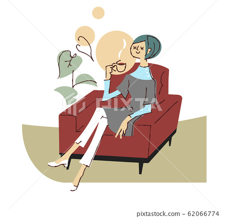 Woman relaxing on the sofa 62066774