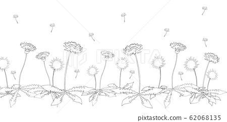 Dandelion Line Art