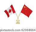 ธงบนโต๊ะของทั้งสองประเทศ 62068664