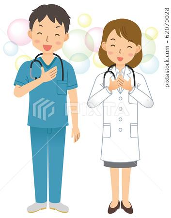 醫生/醫生/男/女/磨砂/實驗室外套/全身 62070028