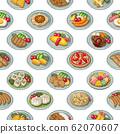 Food 1 Illustration (color) Seamless pattern 62070607