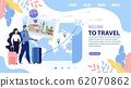 Landing Page Design Inviting to Travel Vacation 62070862