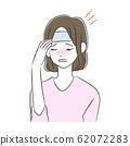 감기 두통 여성 62072283