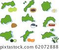 Chugoku / Shikoku region and specialty set 62072888