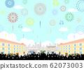 观众烟花喷泉广场 62073003