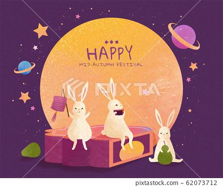 Mid autumn festival with rabbit 62073712