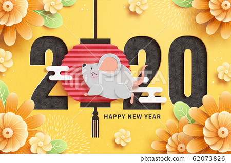 2020 year of the rat paper art 62073826
