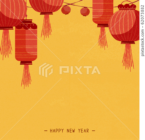 Traditional red lanterns background 62073882