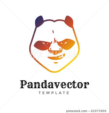 Panda Bear sport vector logo concept isolated on white background. Modern predator professional team badge design. Premium quality wild animal t-shirt tee print illustration 62073909
