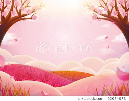 Romantic pink nature scenery 62074078
