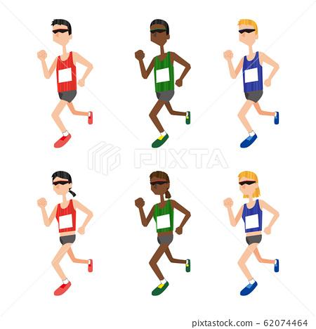 田徑馬拉松運動員體育 62074464