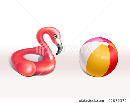set of inflatable flamingo rubber rings 62076372