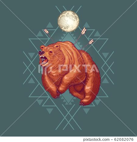 Native Americans totemic animal cartoon 62082076