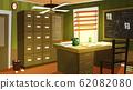 Private detective office interior cartoon 62082080