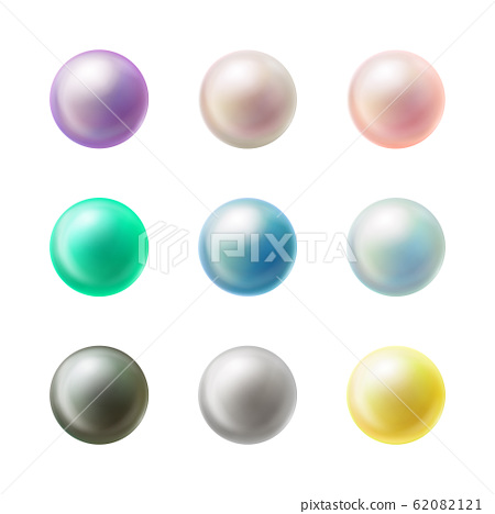 Colorful blank round buttons realistic set 62082121