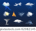 Weather forecast 3d realistic icons collection 62082145