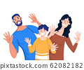 Happy family. Father, mother and children . Vector 62082182