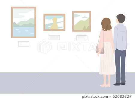 夫婦在博物館看畫 62082227