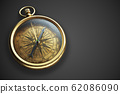 Vintage compass isolated on black background 3d 62086090