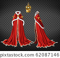 Medieval queen royal garment realistic 62087146