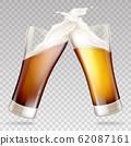 light, dark beer in glasses 62087161