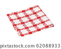 Checked red and white kitchen tea towel 62088933