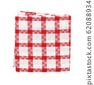 Checked red and white kitchen tea towel 62088934