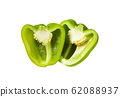 Green bell pepper isolated on white 62088937