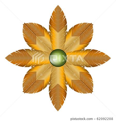 Isolated golden flower 62092208