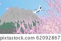 Kagoshima landscape and crane flight 62092867