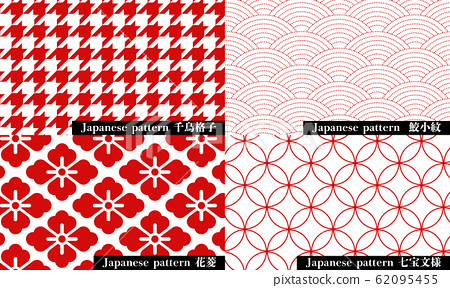 Japanese pattern houndstooth check, shark komon, hanabishi, cloisonne 62095455