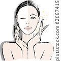 Woman Face Pack Before After 62097415