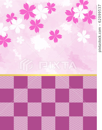 櫻花櫻花日式和服日式和服日本背景日本和服紙花紋花紋 62099537