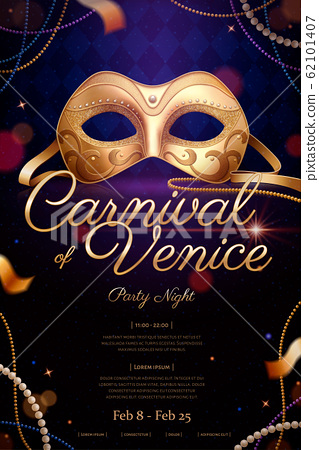 Exquisite Venice carnival poster 62101407