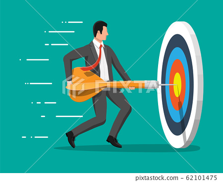 Businessman aim arrow to target. 62101475