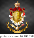 Medieval ruler coat of arms 3d realistic 62101858