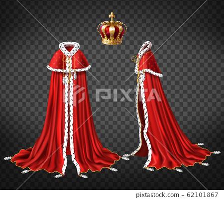 Medieval monarch royal garment realistic 62101867