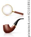 Detectives retro attributes realistic set 62101891