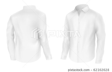 Classic white shirt with long sleeve 62102028