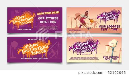 Street basketball league tournament flyer 62102046