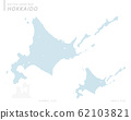 dotted Japan map, Hokkaido 62103821