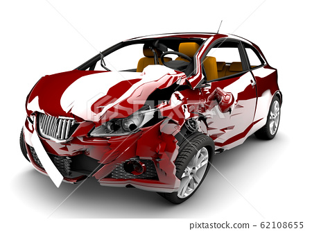 Red car accident 62108655