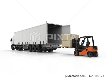 Forklift and truck 62108674