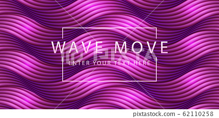 Abstract retro purple background dyanmic seamless wave line 3d grid ground. 62110258