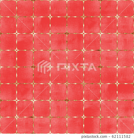 Watercolor abstract geometric red stripe plaid 62111582